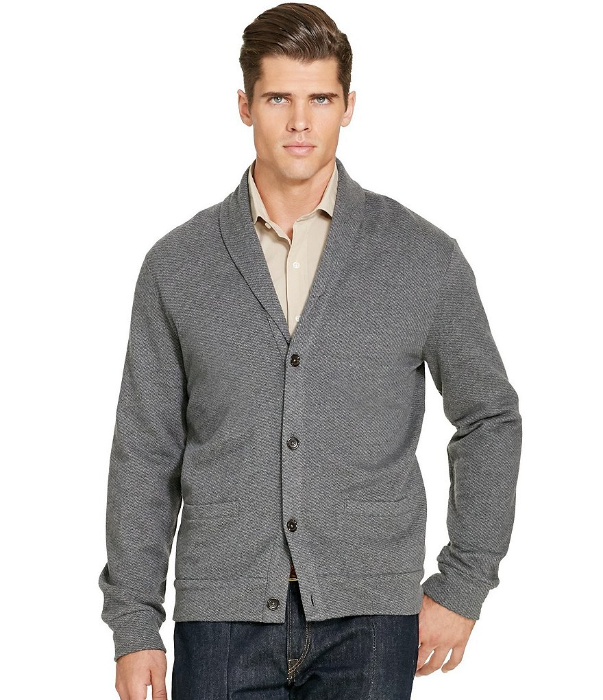 Polo Ralph Lauren Big & Tall Jacquard Fleece Shawl Cardigan