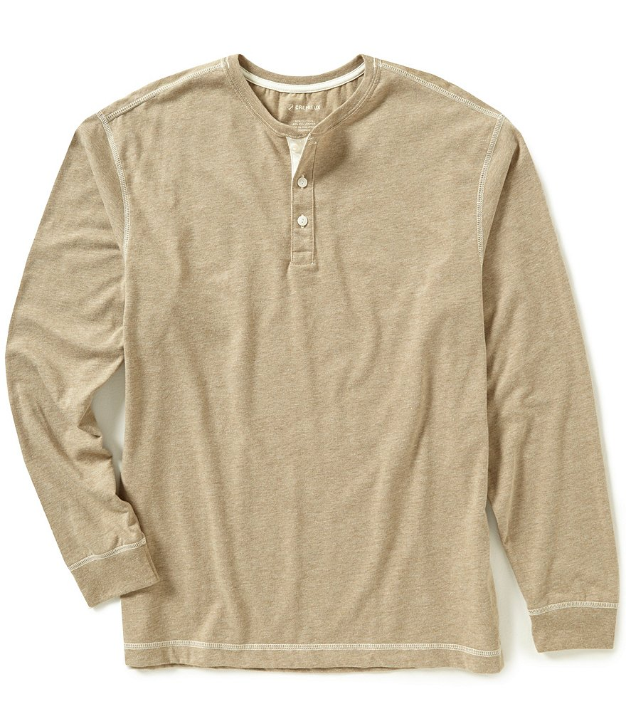 Cremieux Long-Sleeve Jersey Henley Shirt