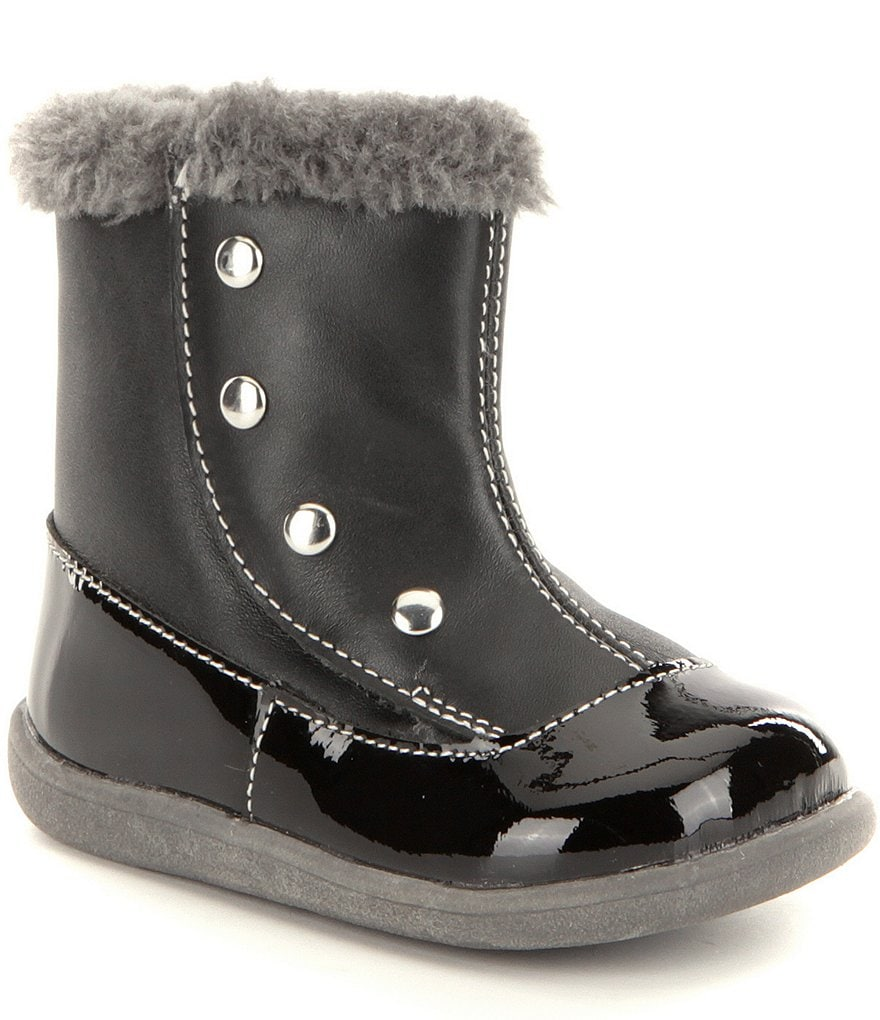 See Kai Run Girls´ Amelia Faux Fur Trim Boots