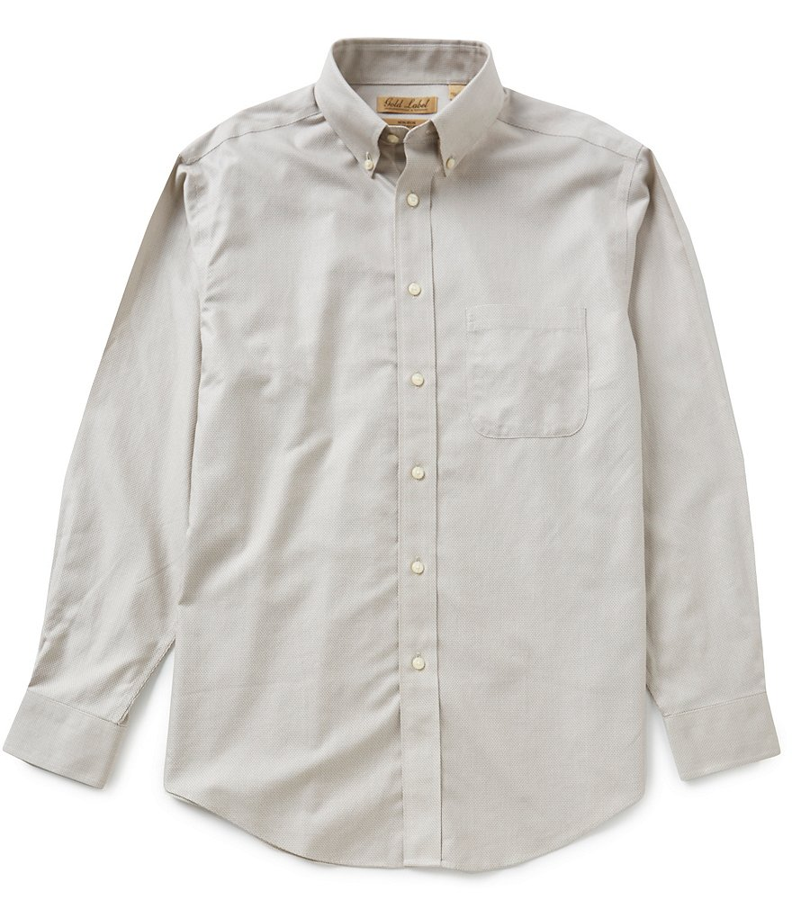 Gold Label Roundtree & Yorke Long Sleeve Solid Dobby Perfect Performance Sportshirt