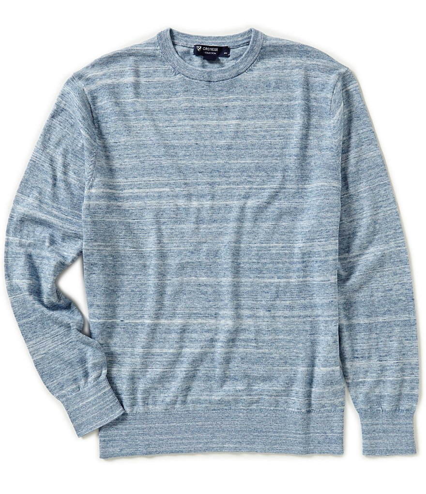 Cremieux Long-Sleeve Space-Dye Sweater