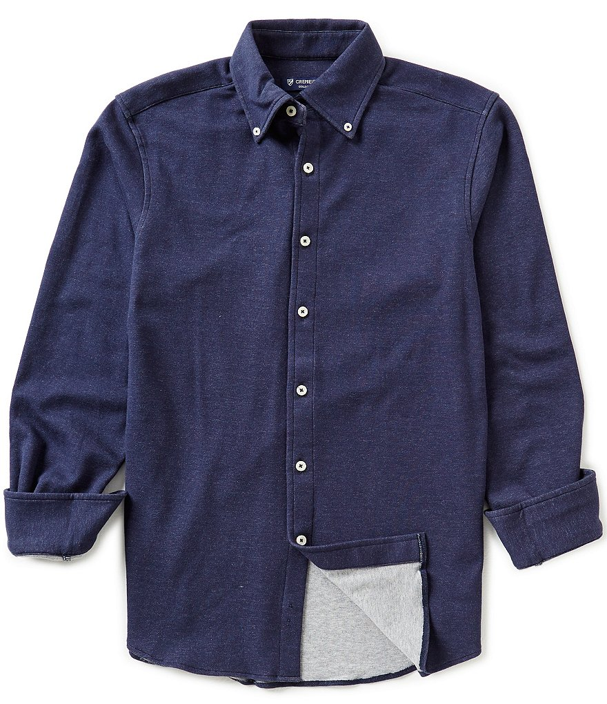 Cremieux Cut & Sew Long-Sleeve Woven Solid Shirt