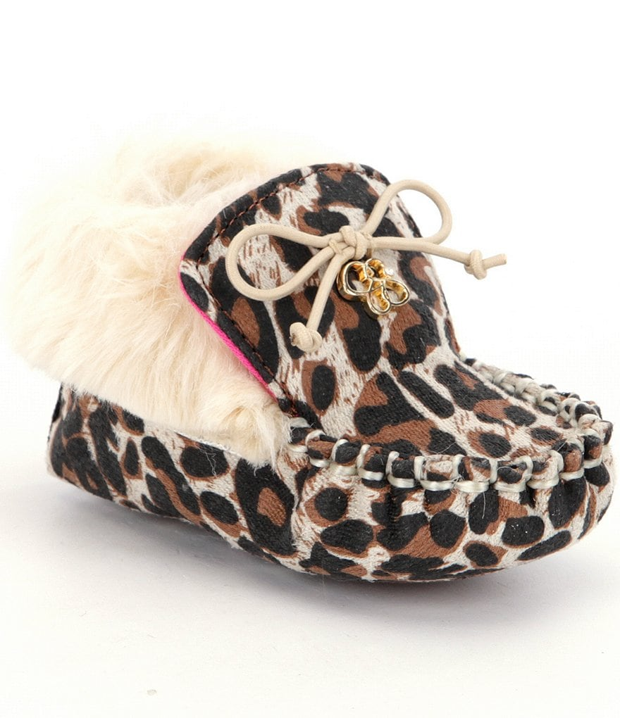 Jessica Simpson Girls´ Faux Fur Royce Boot Crib Shoes