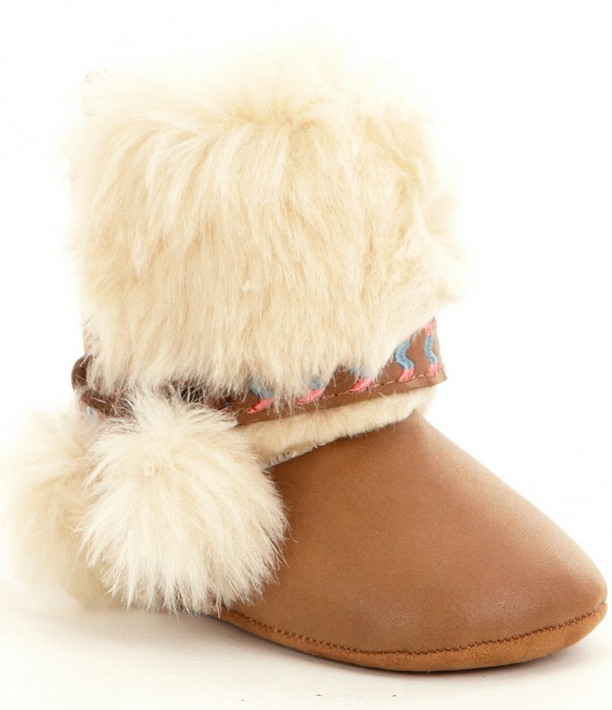 Jessica Simpson Girls´ Faux Fur Marci Boot Crib Shoes