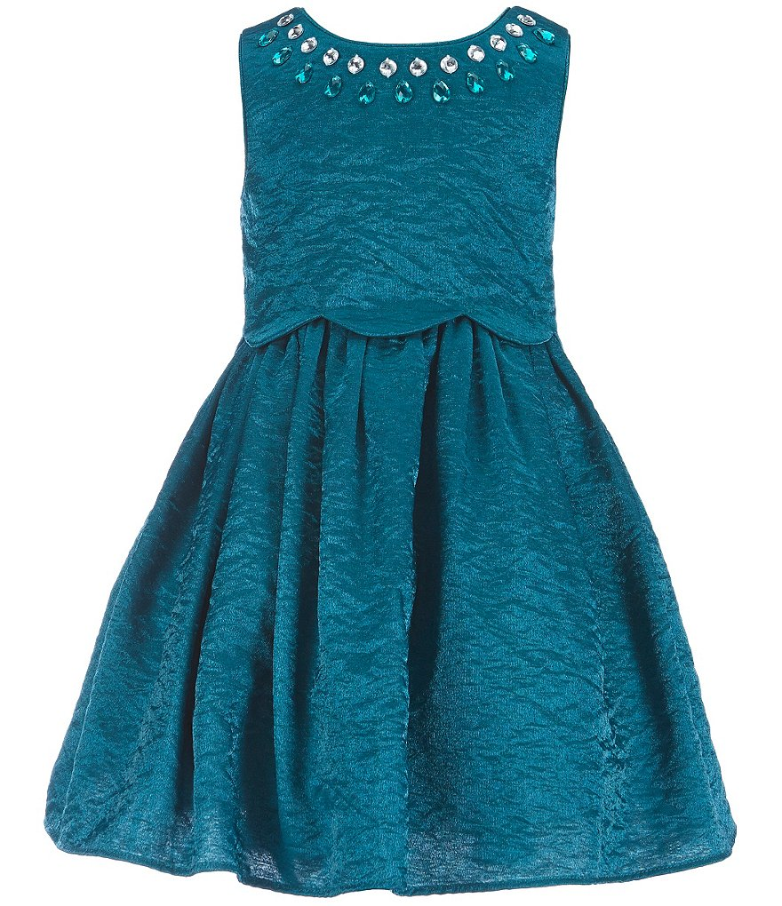 Sweet Heart Rose Little Girls 2T-6X Jeweled-Neck Social Dress