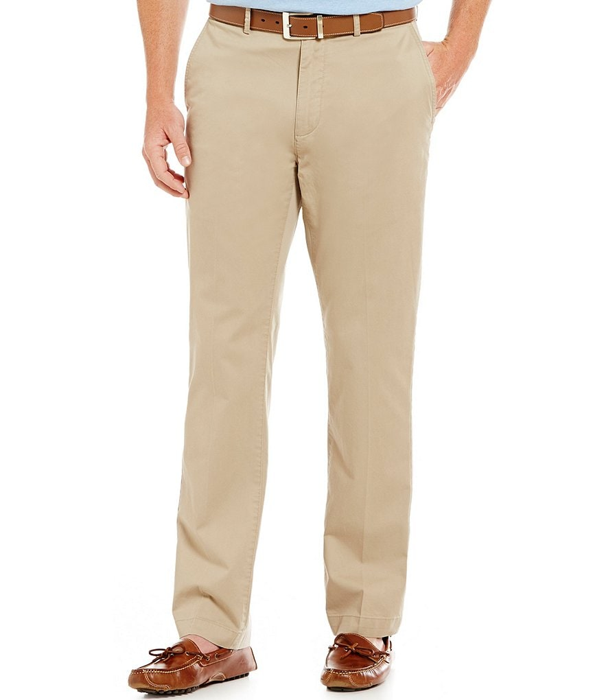 Cremieux Straight-Fit Flat-Front Pants