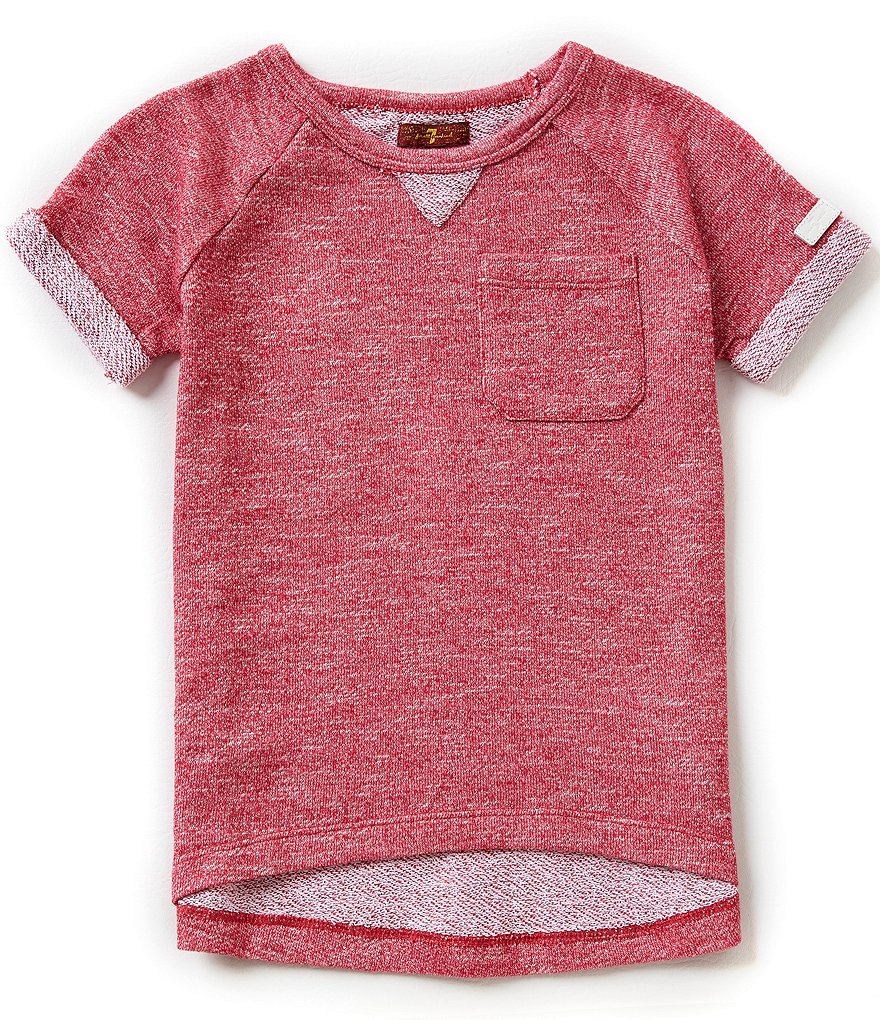 7 For All Mankind Big Girls 7-16 French Terry Pocket Tee