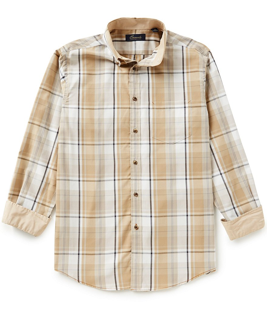 Roundtree & Yorke Casuals Plaid Sportshirt