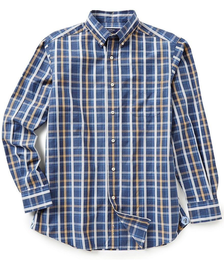 Cremieux Long-Sleeve Plaid Heather Shirt