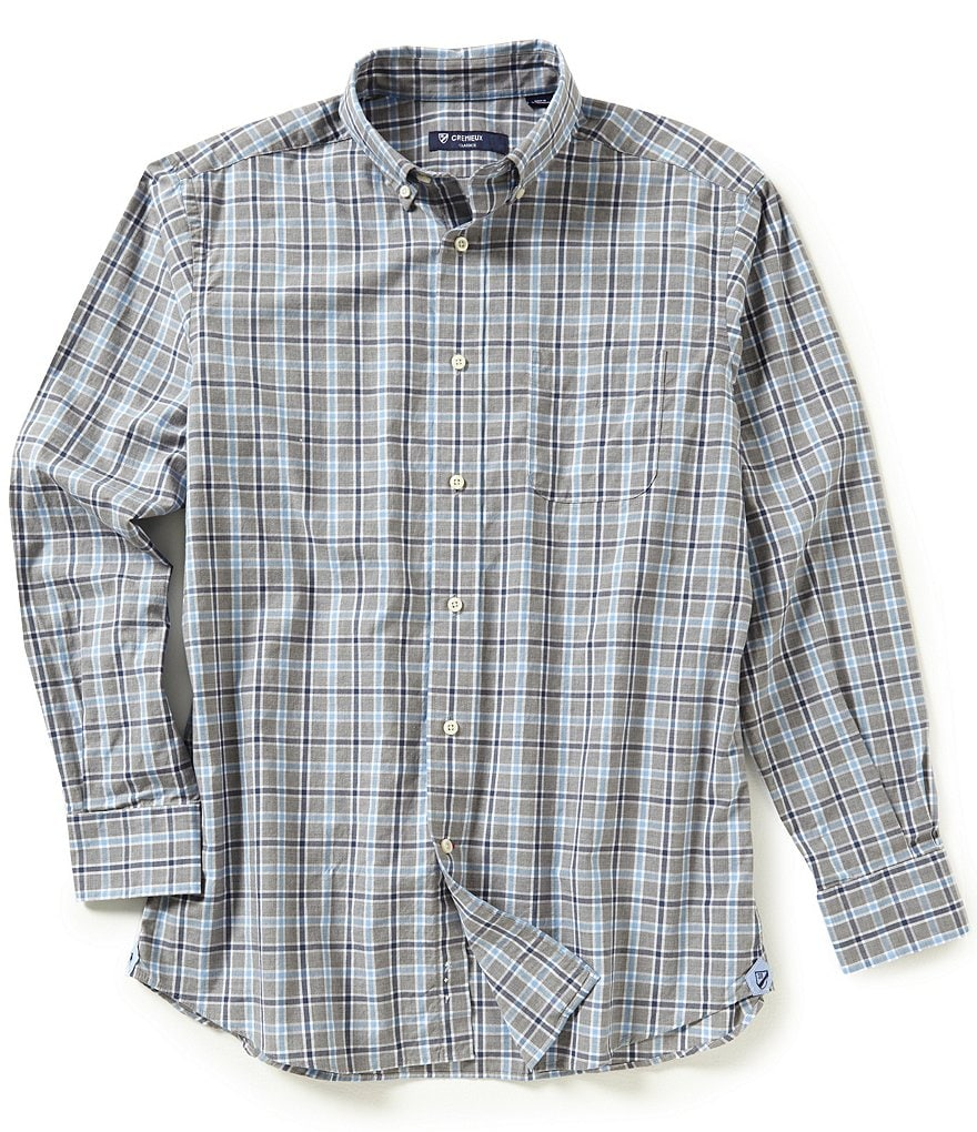 Cremieux Long-Sleeve Plaid Heather Woven Shirt