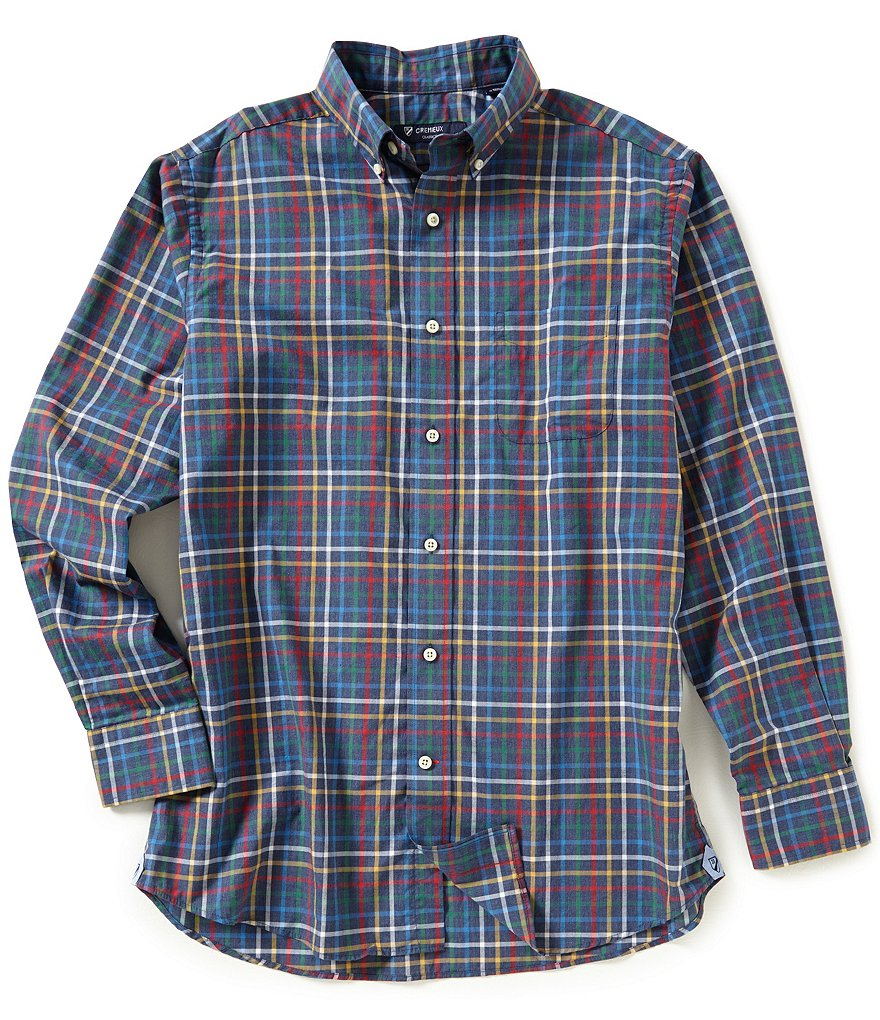 Cremieux Long-Sleeve Multi-Graph Heather Woven Shirt
