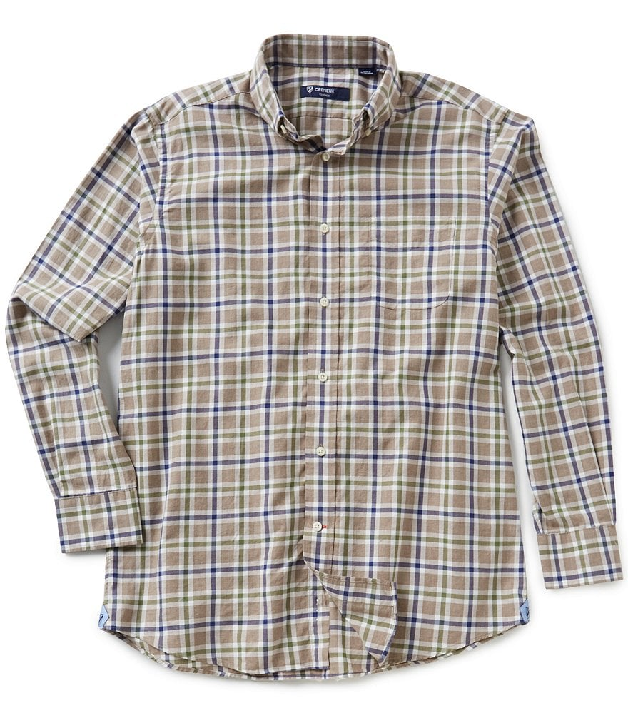 Cremieux Long-Sleeve Graph Print Heather Woven Shirt