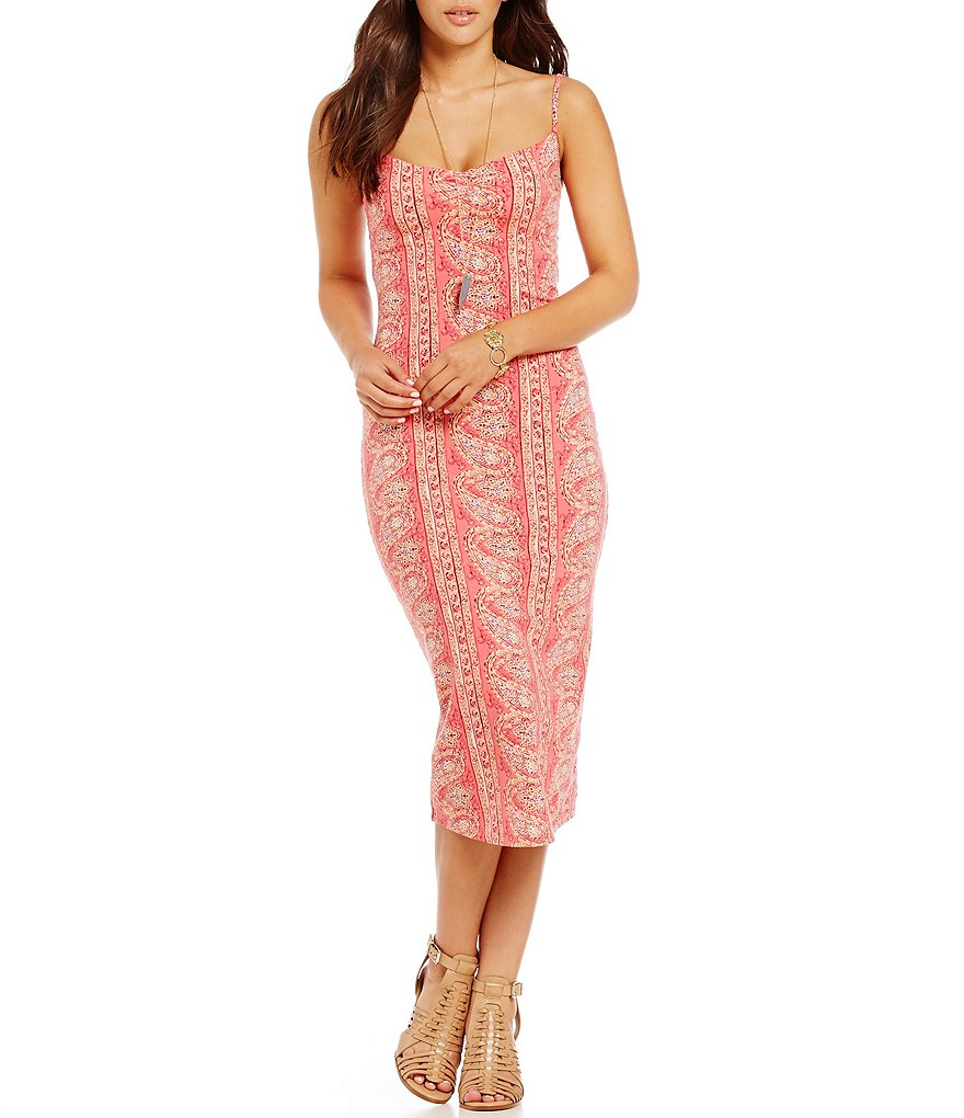 Billabong Right Around Printed Midi Dress