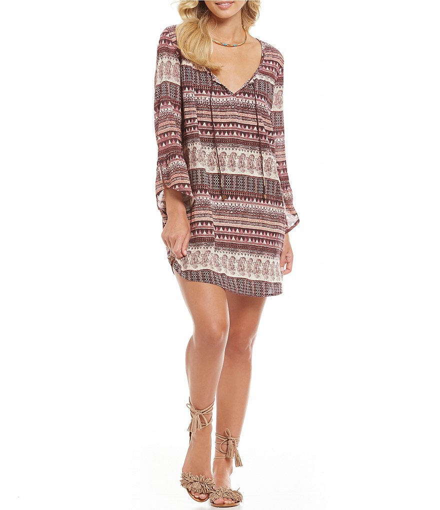 Billabong Take Me Away Printed Shift Dress