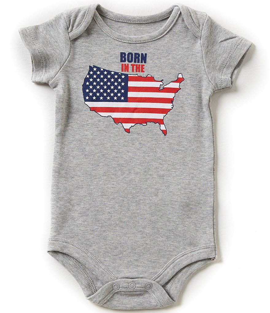 Baby Starters Babies With Attitude 3-12 Months Born In The USA Bodysuit