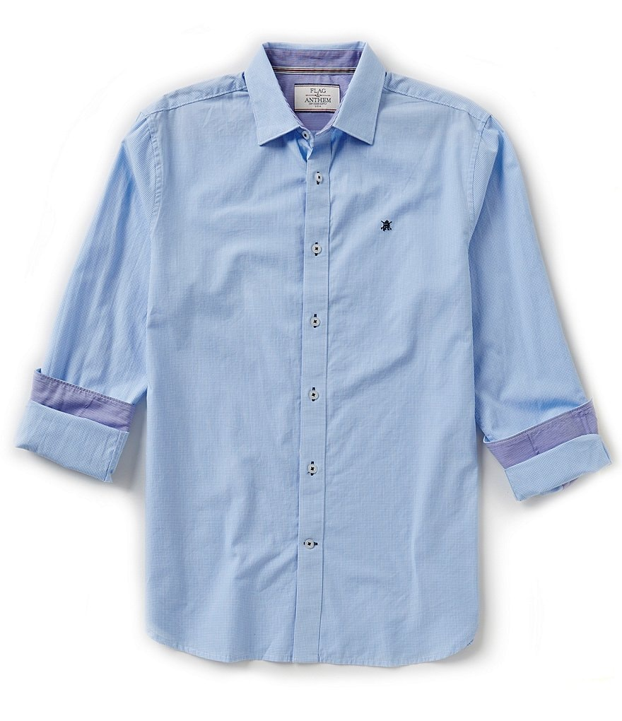 Flag & Anthem Covington Button-Front Mini-Check Shirt