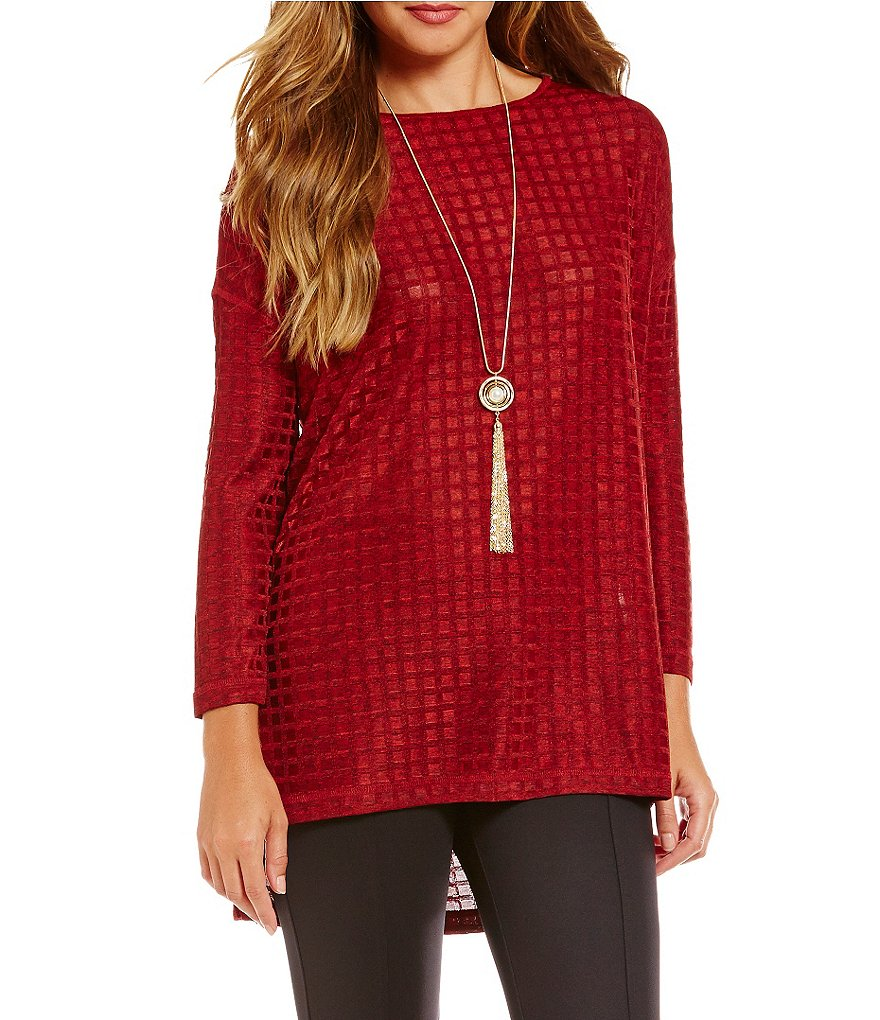 John Mark Window Pane Knit Tunic
