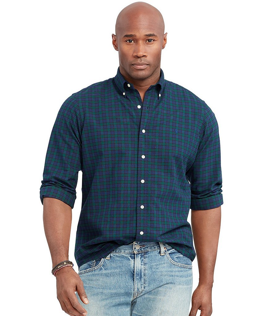 Polo Ralph Lauren Big & Tall Tartan Checked Oxford Shirt