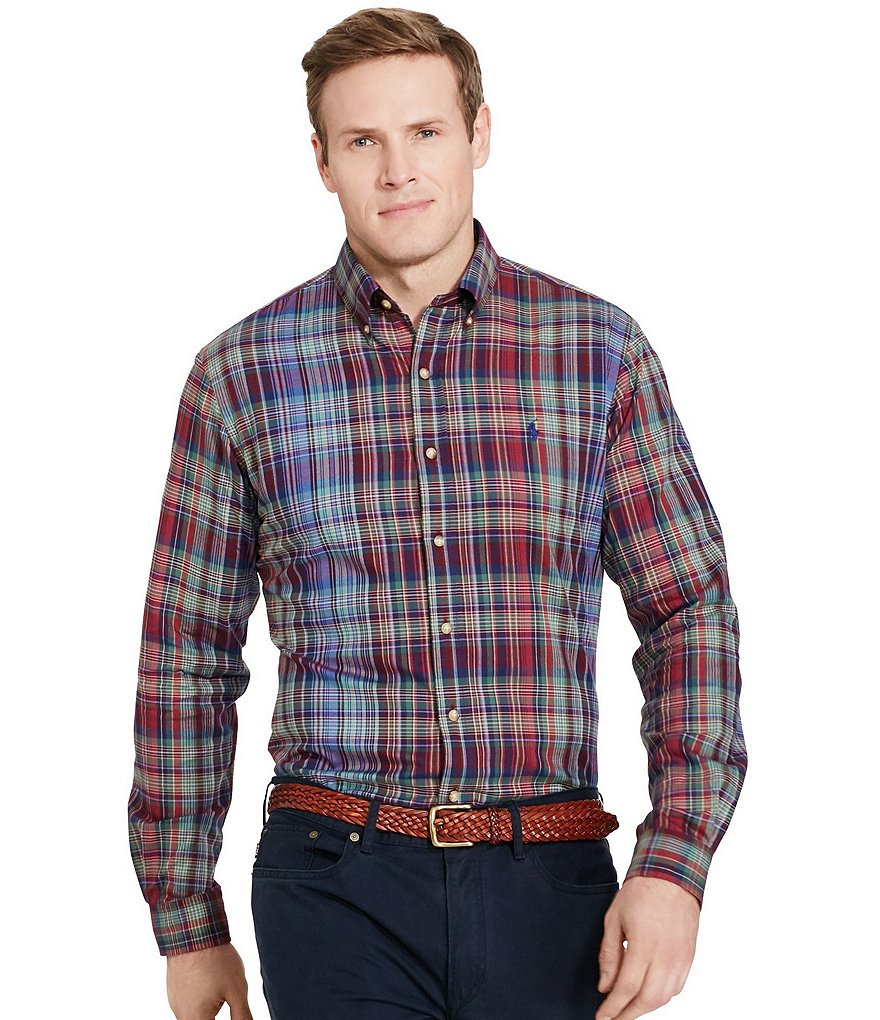 Polo Ralph Lauren Big & Tall Plaid Long-Sleeve Woven Shirt