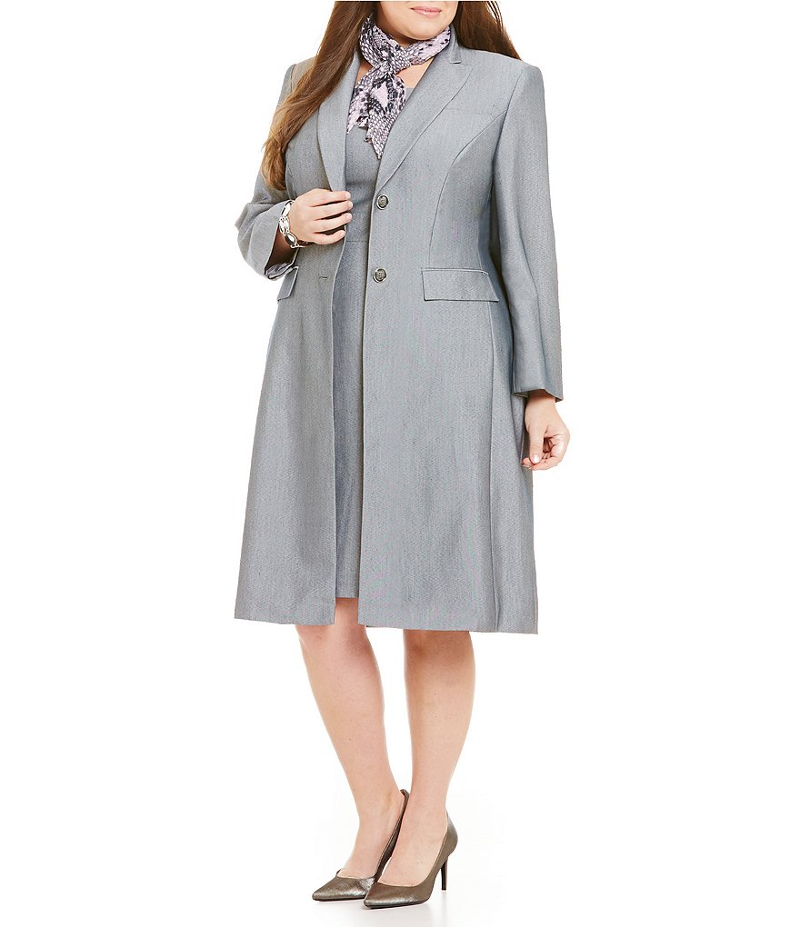 John Meyer Plus Sharkskin 2-Piece Jacket Dress