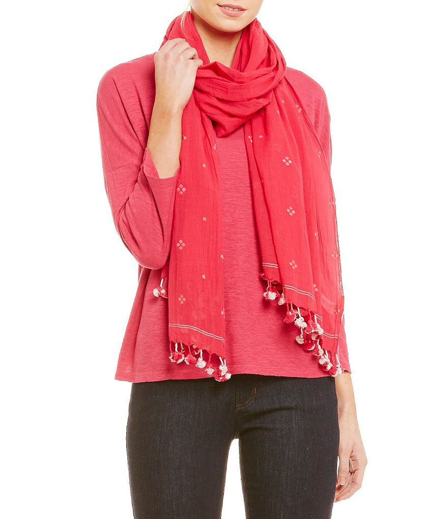 Eileen Fisher Jamdani Flower Scarf