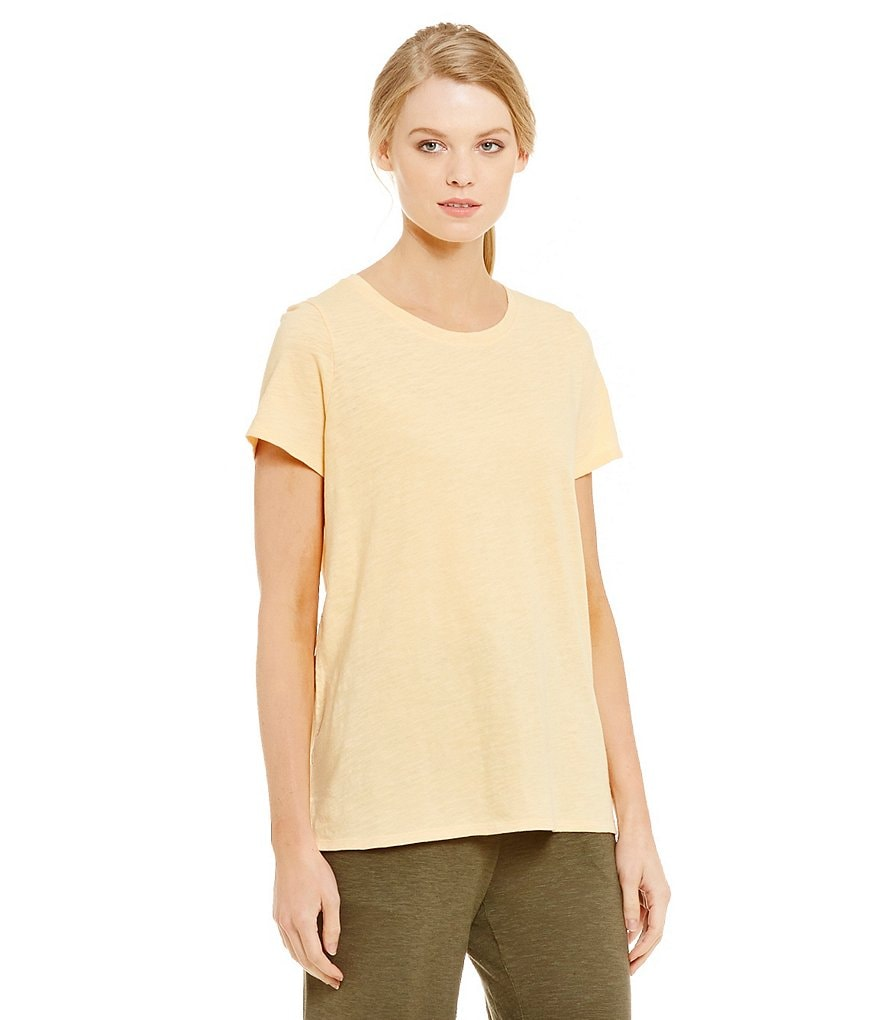 Eileen Fisher Cotton Round Neck Top
