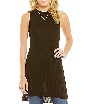 Guess Abiola Side Cut Out Sleeveless Ribbed Sweater