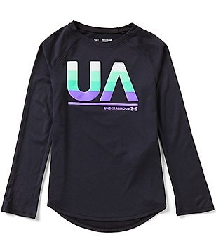 Under Armour Big Girls 7-16 Long-Sleeve Tee