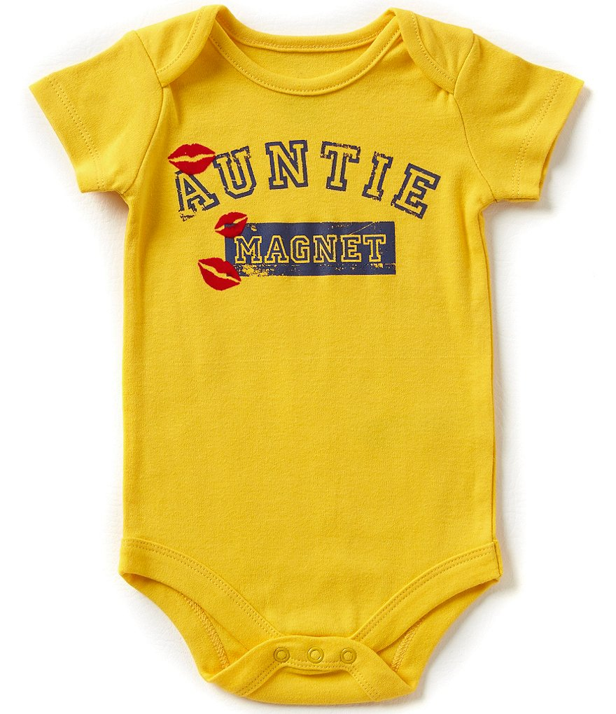Baby Starters Babies With Attitude Baby Boys 3-12 Months Auntie Magnet Bodysuit