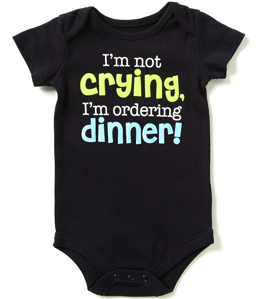 Baby Starters Babies With Attitude 3-12 Months I´m Not Crying I´m Ordering Dinner Bodysuit