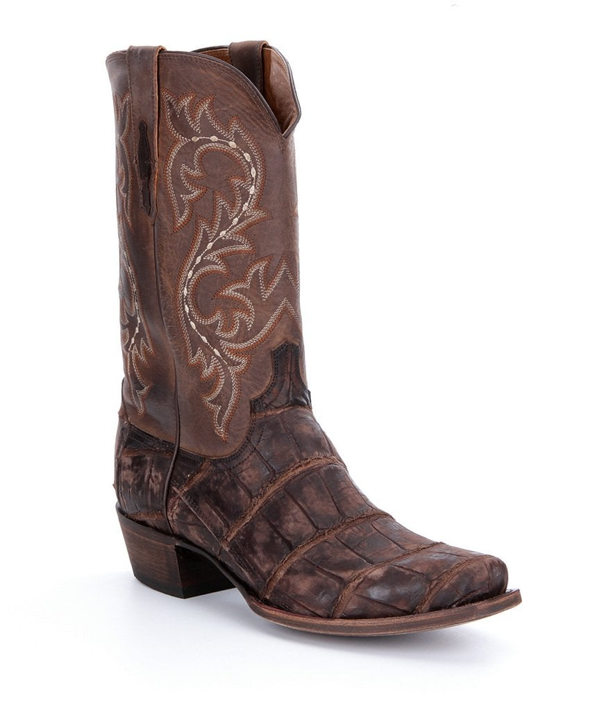 Lucchese Men´s Burke Western Alligator Foot Boots