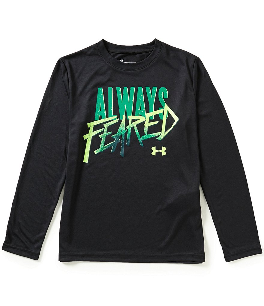 Under Armour Big Boys 8-20 Always Feared Long-Sleeve Tee