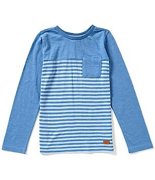 7 For All Mankind Big Boys 8-20 Color Blocked/Striped Long-Sleeve Tee