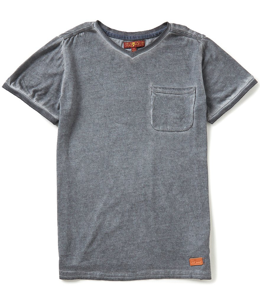 7 For All Mankind Big Boys 8-20 Mineral Wash Short-Sleeve Tee