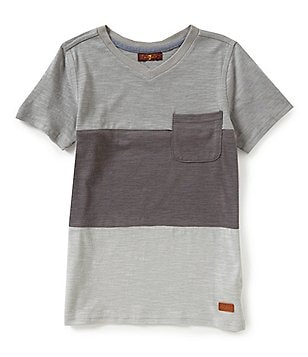 7 For All Mankind Big Boys 8-20 Color Block Short-Sleeve Slub Jersey Pocket Tee