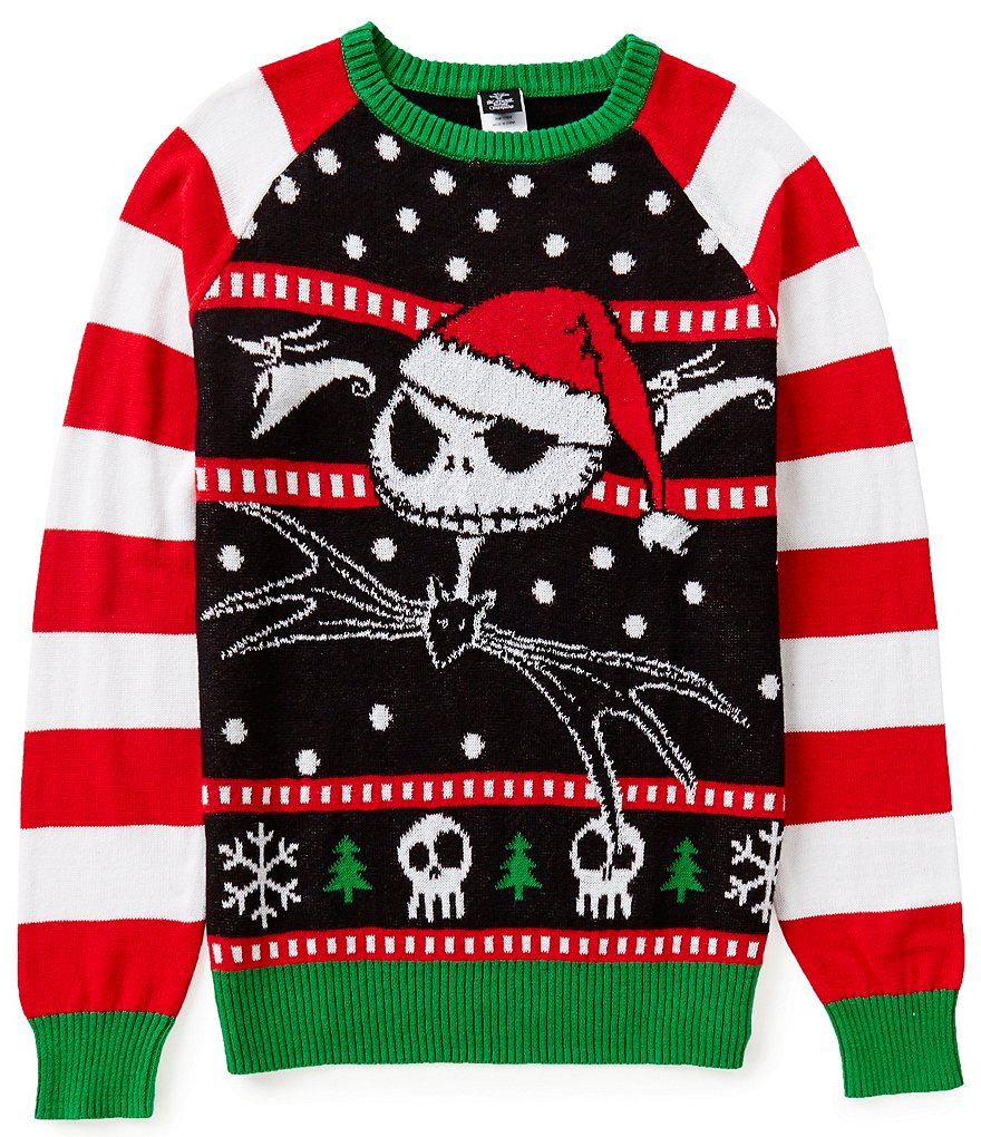 Disney´s The Nightmare Before Christmas Jolly Pumpkin King Jack Skellington Christmas Sweater