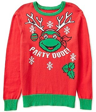 Teenage Mutant Ninja Turtles Raphael Party Dude Christmas Sweater