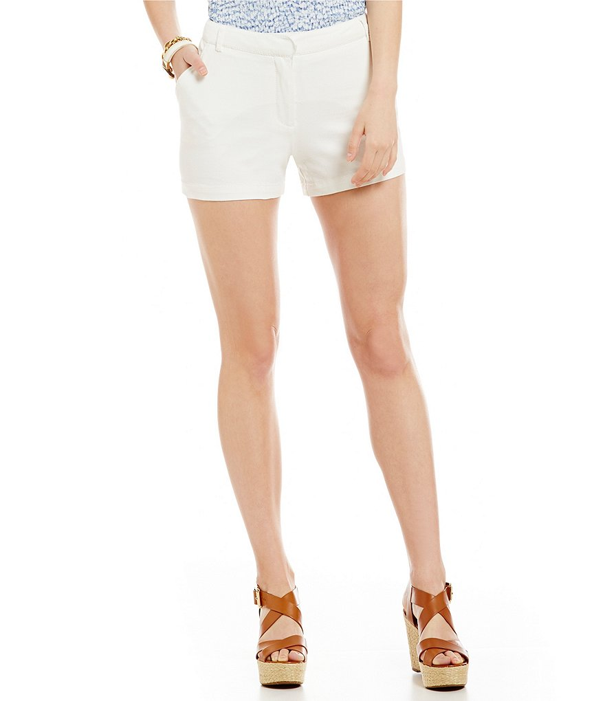 M.S.S.P. Stretch Flat Front Twill Shorts