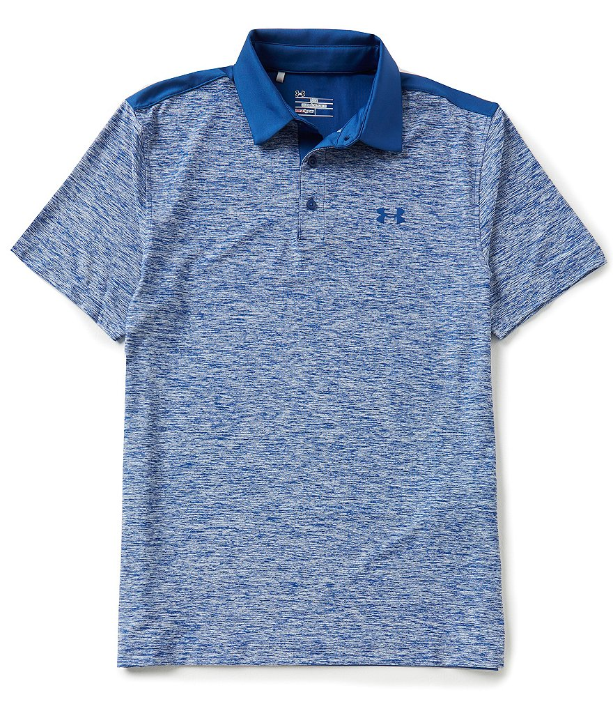 Under Armour Golf Playoff Horizontal-Stripe Novelty Polo Shirt