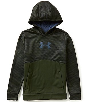 Under Armour Big Boys 8-20 Armour Fleece Storm Mid Logo Hoodie