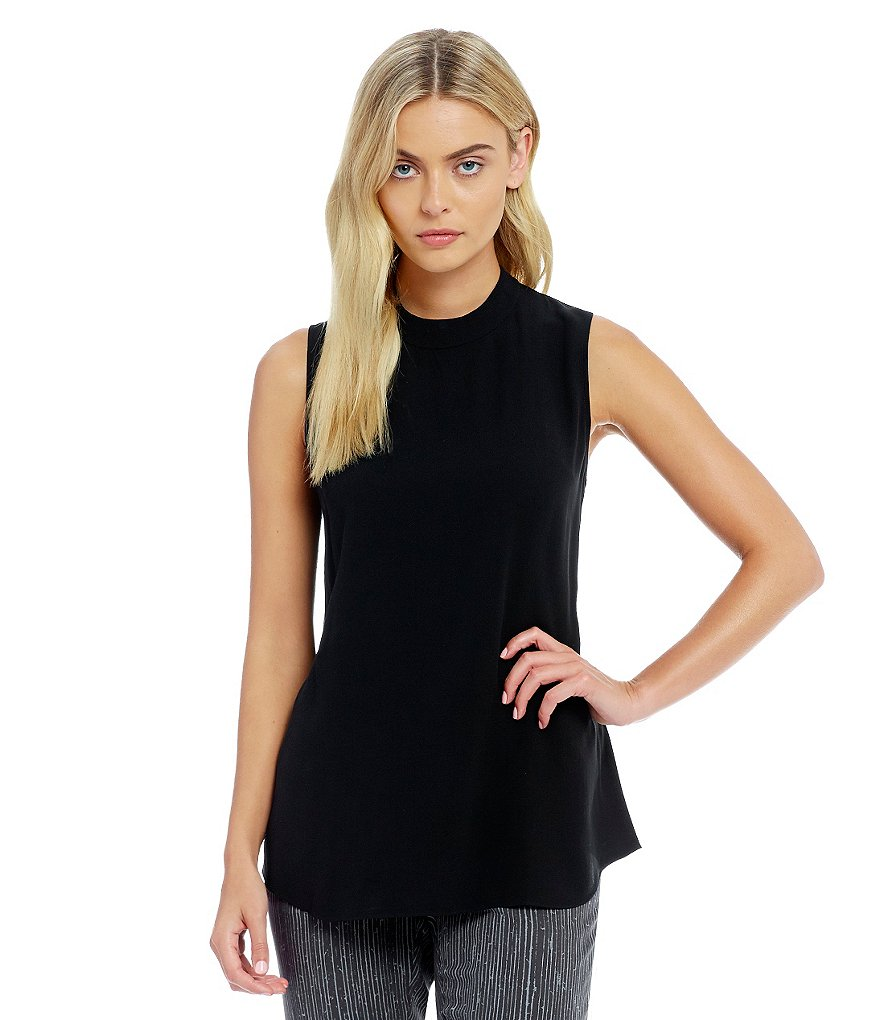 Eileen Fisher Petites High Neck Sleeveless Tank
