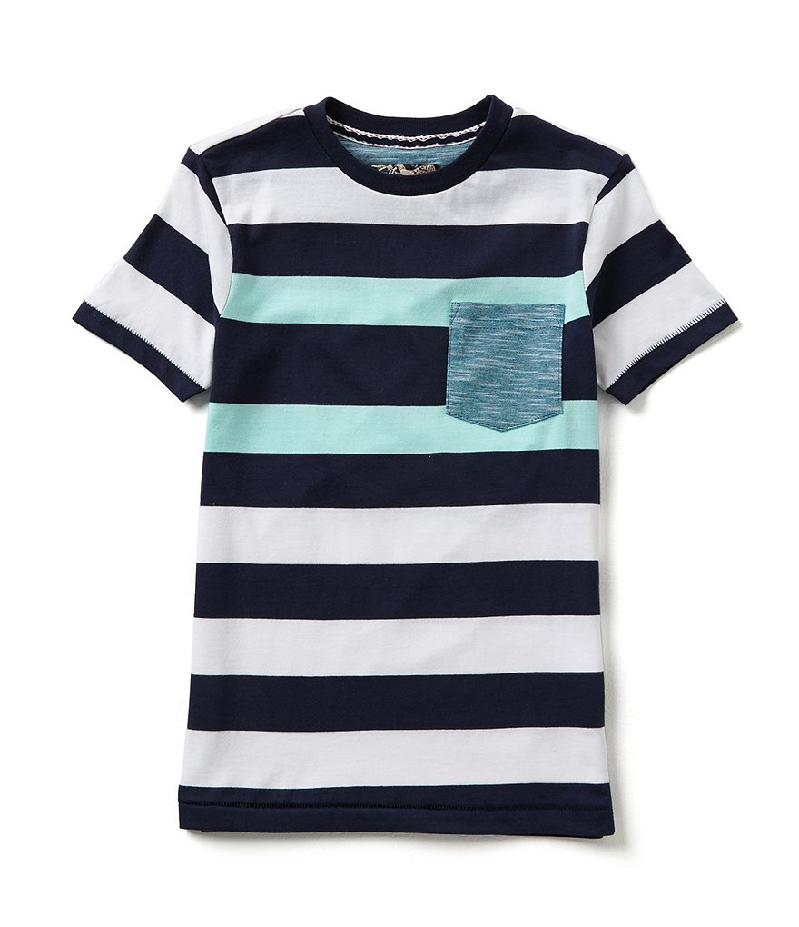 First Wave Big Boys 8-20 Chest Stripe Short-Sleeve Tee