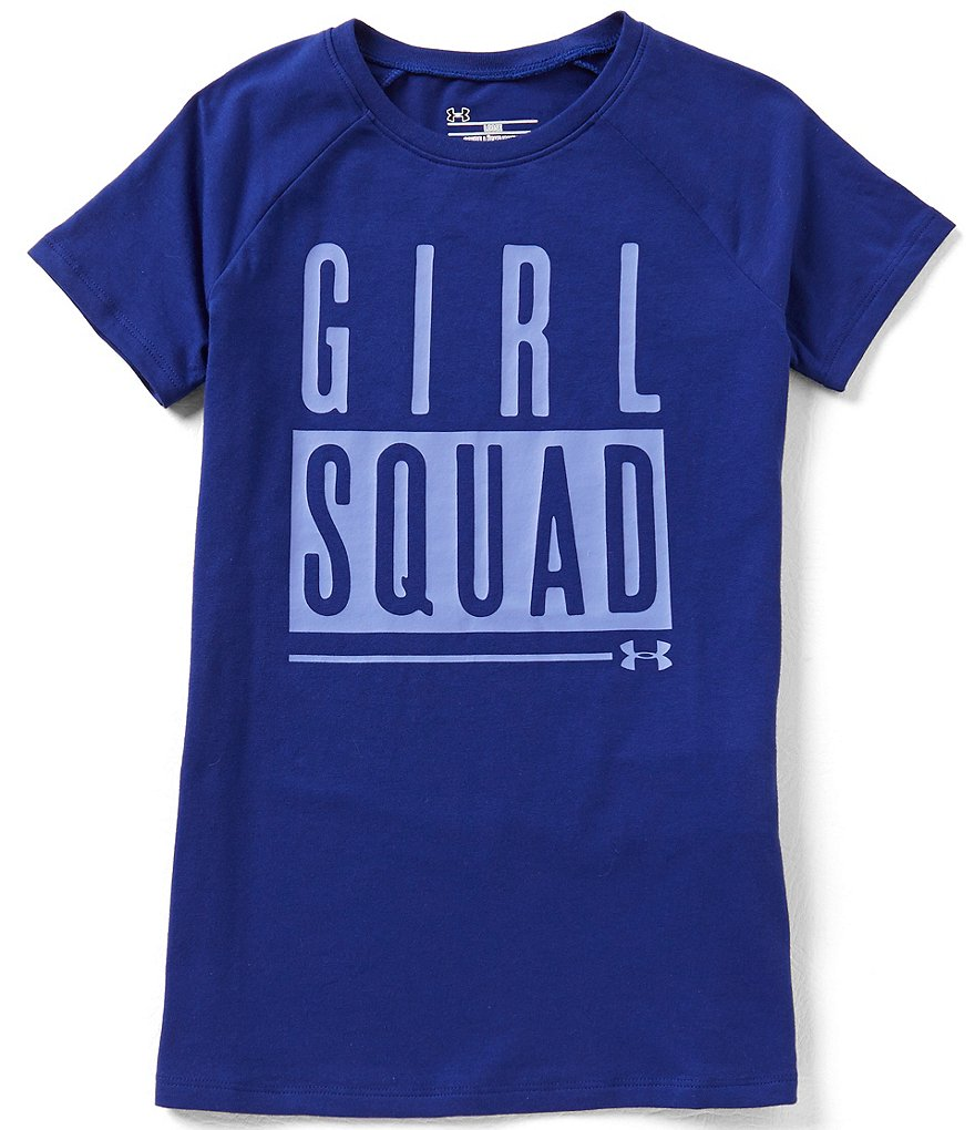 Under Armour Big Girls 7-16 Girl Squad Short-Sleeve Graphic Tee