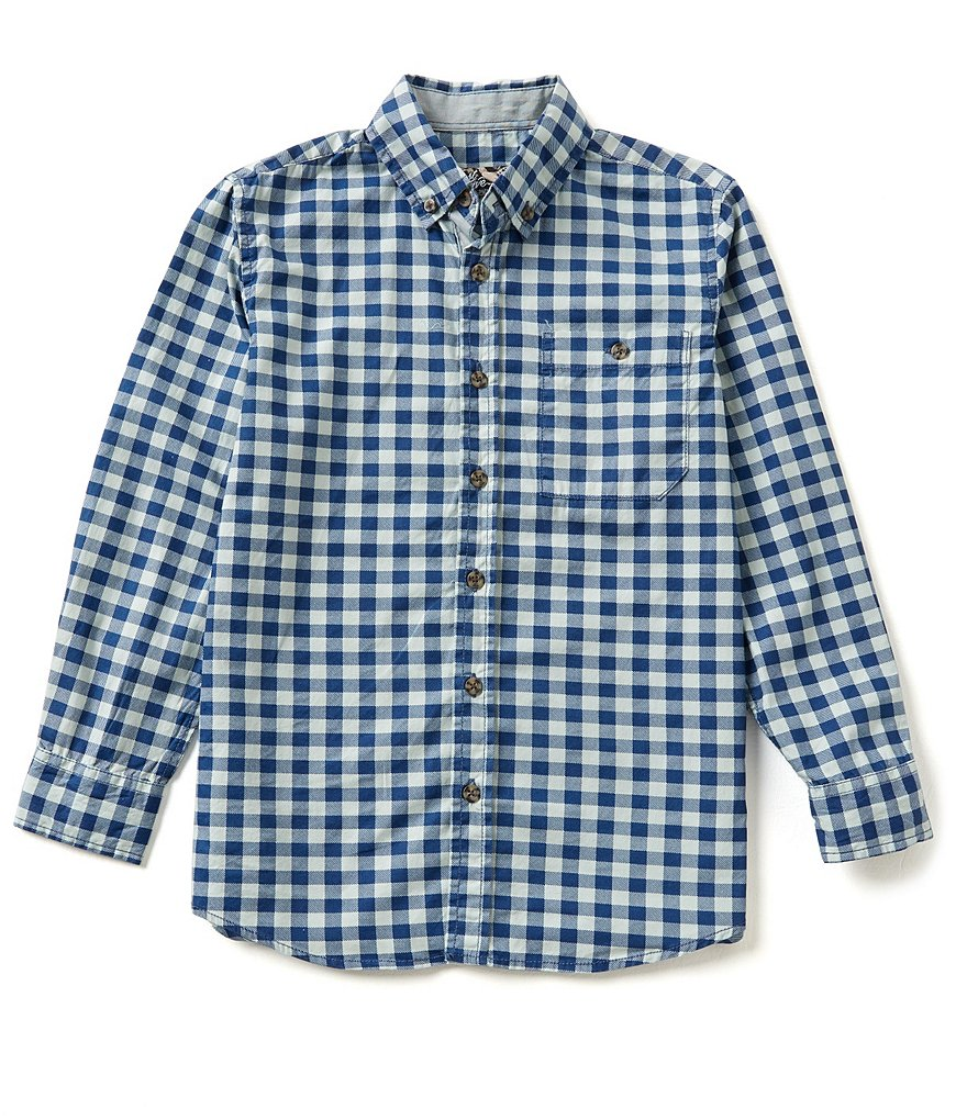 First Wave Big Boys 8-20 Long-Sleeve Checked Woven Shirt