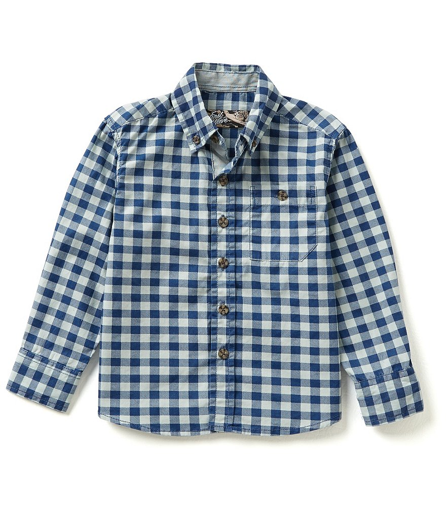 First Wave Little Boys 2T-7 Checked Long-Sleeve Woven Shirt