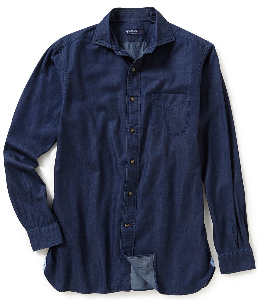 Cremieux Long-Sleeve Solid Woven Shirt