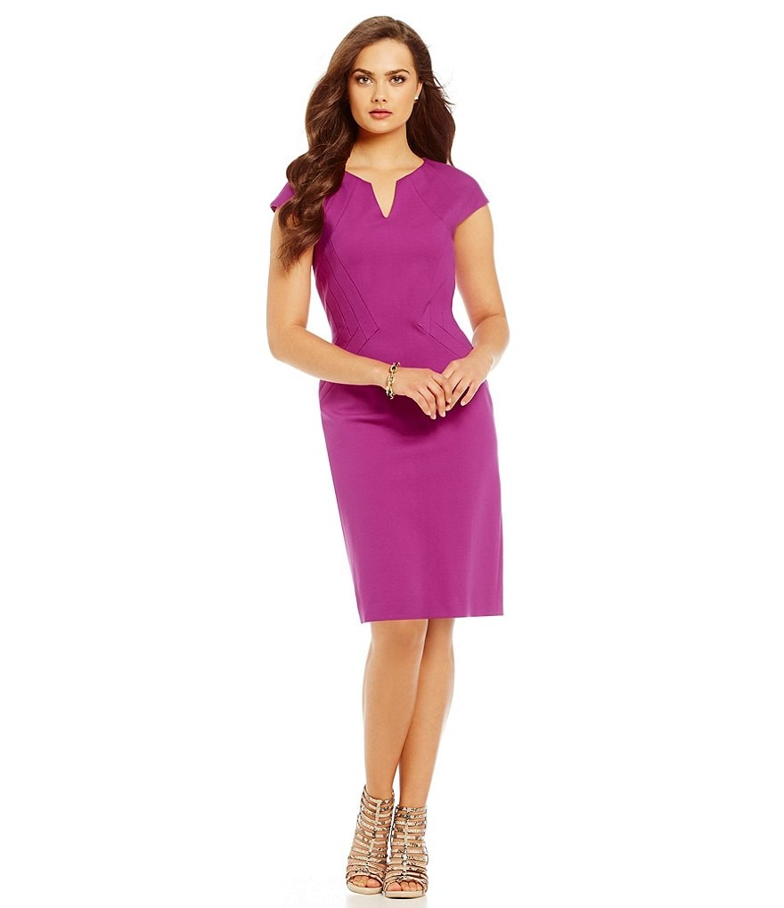 Antonio Melani Cap Sleeve Kerry Ponte Dress