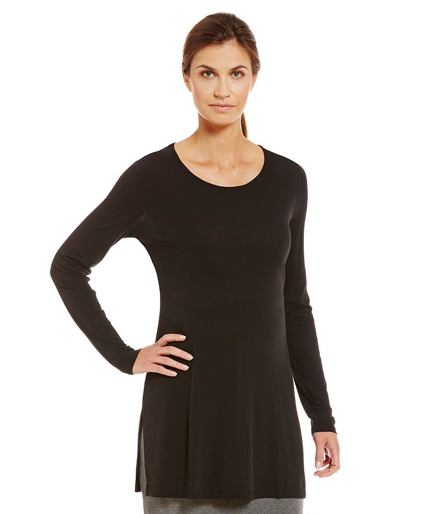 Eileen Fisher Scoop Neck Long Sleeve Tunic