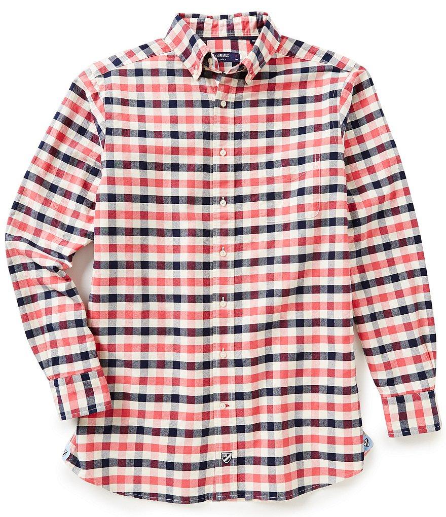 Cremieux Big & Tall Long-Sleeve Exploded Check Oxford Woven Shirt