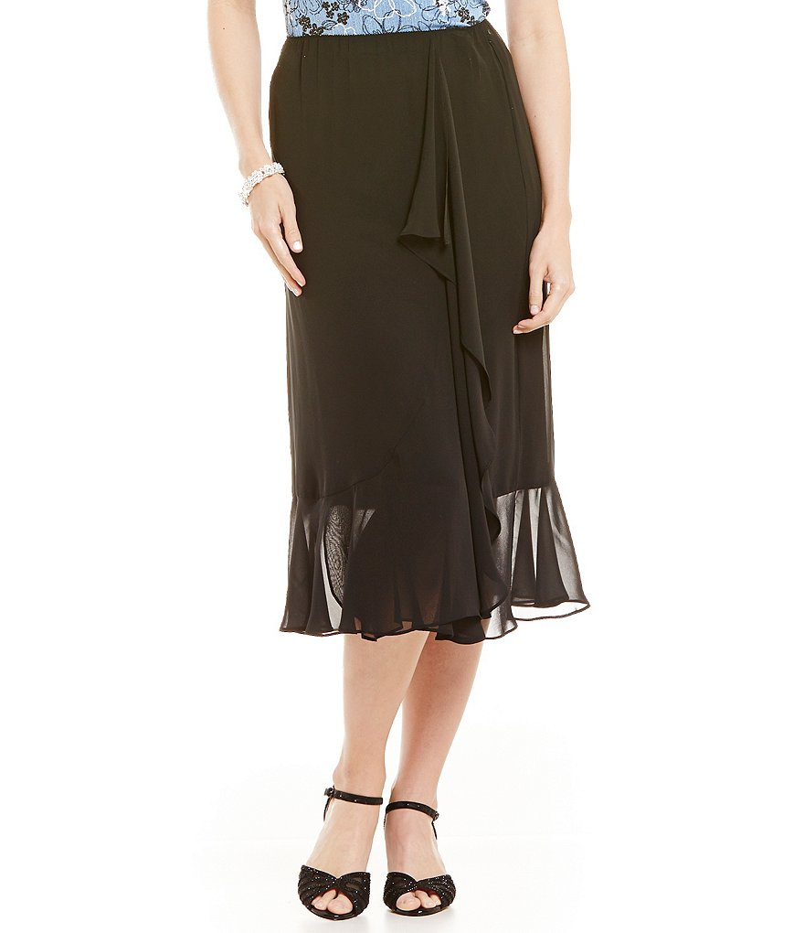Alex Evenings Ruffle-Detail Chiffon Skirt